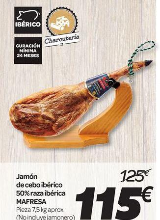 Oferta de Jamón de cebo ibérico 50% raza ibérica Mafresa por 115€