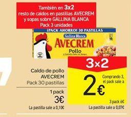 Oferta de Caldo de pollo Avecrem por 3€