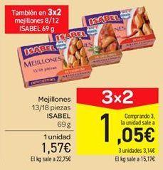 Oferta de Mejillones Isabel por 1.57€