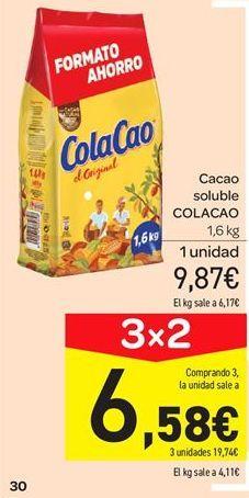 Oferta de Cacao soluble Cola Cao por 9.87€
