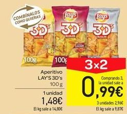 Oferta de Aperitivos Lay's por 1.48€