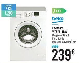 Oferta de Lavadora WTE7611BW por 239€
