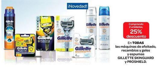 Oferta de Máquina de afeitar, recambios, geles y espumas por