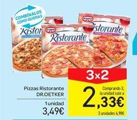 Oferta de Pizzas Ristorante Dr Oetker por 3.49€
