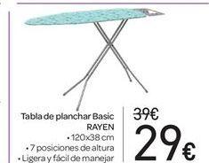 Oferta de Tabla de planchar Basic RAYEN por 29€