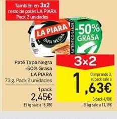 Oferta de Paté tapa negra La Piara por 2.45€