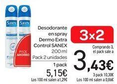 Oferta de Desodorante en spray dermo extra control Sanex por 5.15€