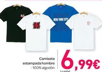 Oferta de Camiseta estampada hombre por 6.99€