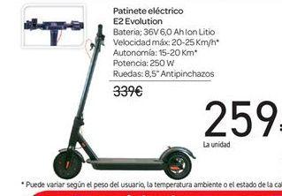 Oferta de Patinete eléctrico E2 Evolution por 259€