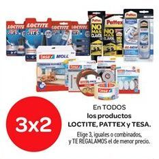 Oferta de En TODOS los productos LOCTITE, PATTEX y TESA por