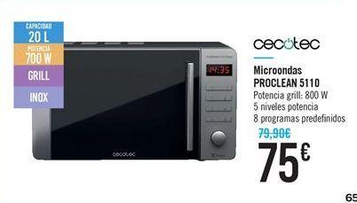 Oferta de Microondas ProClean 5110 por 75€