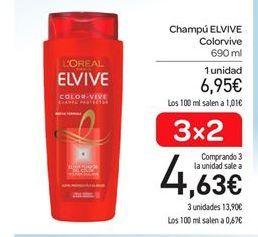 Oferta de Champú Elvive por 6.95€