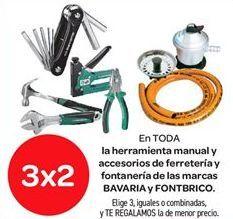 Oferta de En TODA la herramienta manual y accesorios de ferretería y fontanería de las marcas BAVARIA y FONTBRICO por