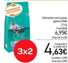 Oferta de Alimento seco para gatos ONE por 6.95€