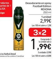 Oferta de Desodorante en spray football edition Rexona por 2.99€
