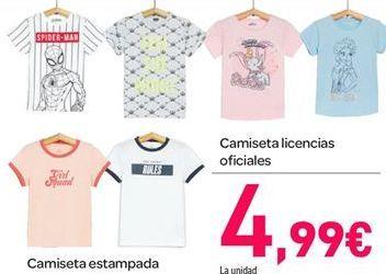 Oferta de Camiseta licencias oficiales por 4.99€