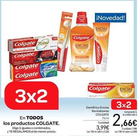 Oferta de Dent铆frico Enc铆as Revitalizante COLGATE por 3.99鈧�