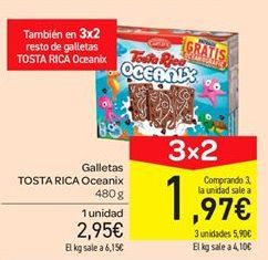 Oferta de Galletas Tosta Rica Oceanix por 2.95€
