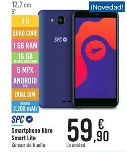 Oferta de Smart p h one libre Smart Lit e por 59.9€