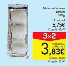 Oferta de Filetes de bacalao Dimar por 5.75€