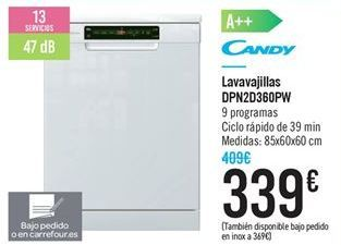 Oferta de Lavavajillas DPN2D360PW por 339€