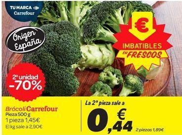 Oferta de Brócoli  carrefour por 1.45€