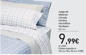 Oferta de Juego de sábanas o funda nordica microfibra Tex Basic por 9.99€