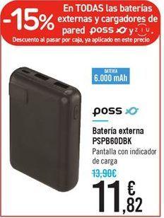 Oferta de Bateria externa PSPB60DBK por 11.82€