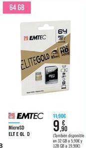 Oferta de Micro SD EMTEC por 9.9€