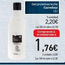 Oferta de Gel proteínas leche carrefour por 2.2€