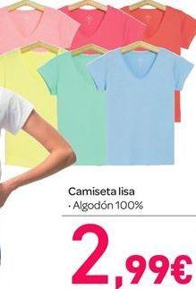 Oferta de Camiseta lisa por 2.99€