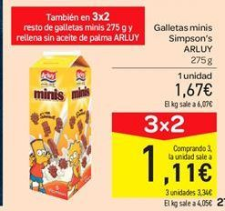 Oferta de Galletas minis Simpson's Arluy por 1.67€