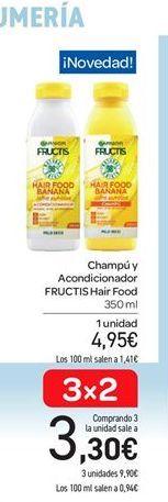 Oferta de Champú y acondicionador Fructis por 4.95€