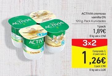 Oferta de Activia cremoso vainilla 0% por 1.89€