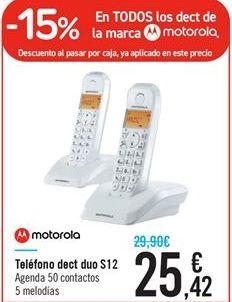 Oferta de Teléfono dect duo S12 por 25.42€
