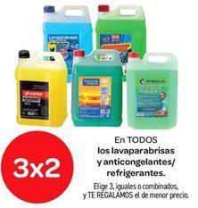 Oferta de EN TODOS los lavaparabrisas y anticongelantes / refrigerantes  por