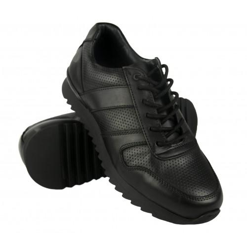 Oferta de Sneakers basicas de piel con cordones por 63.2€
