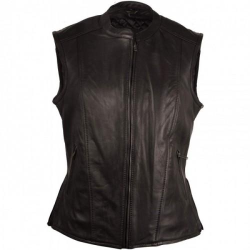 Oferta de Chaleco elegante de piel con bolsillos laterales. por 149€