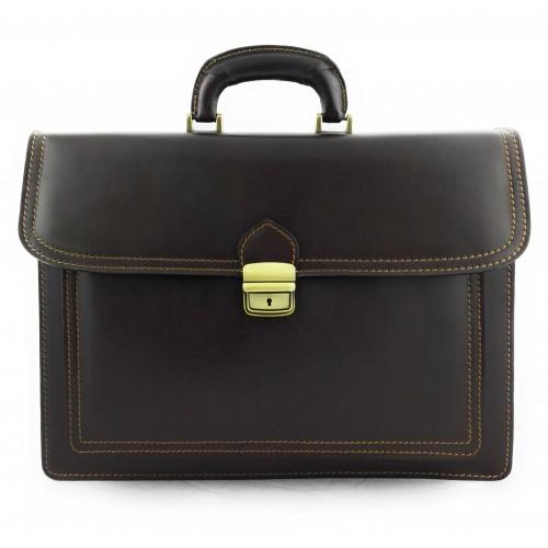 Oferta de Bolso bandolera vintage de cuero 40x30x13 cm por 90.3€