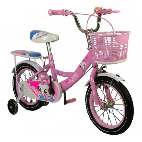 Oferta de Bicicleta de niña de 14-16-18 pulgadas con cesta por 99€