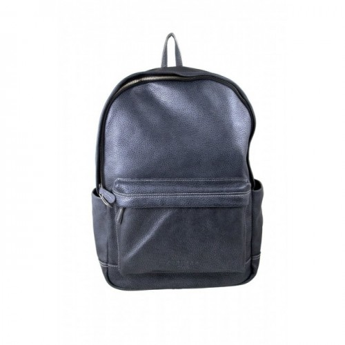 Oferta de Mochila de piel estilo casual con bolsillo delantero 43x30x13 cm por 90.3€