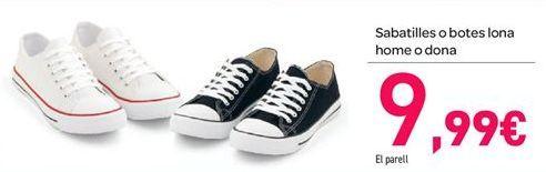 Oferta de Zapatillas o bota lona hombre o mujer por 9€