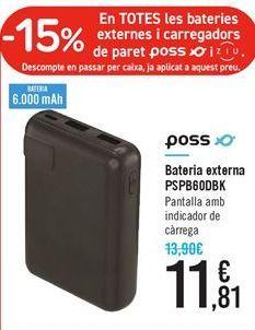 Oferta de Batería para smartphone poss por 11.81€