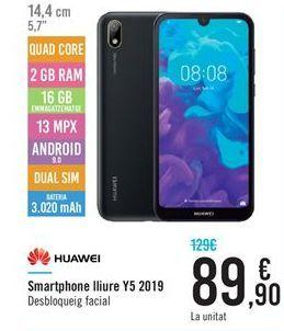 Oferta de Smartphones Huawei por 89.9€