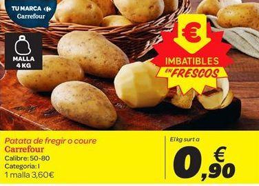 Oferta de Patata de freír o cocer carrefour por 0.9€