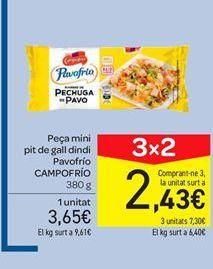Oferta de Pieza mini de pechuga de pavo Pavofrío Campofrío por 3€