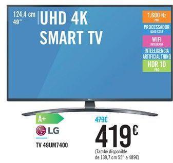 Oferta de Smart tv LG por 419€