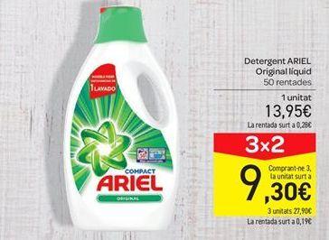 Oferta de Detergente líquido Ariel por 13.95€