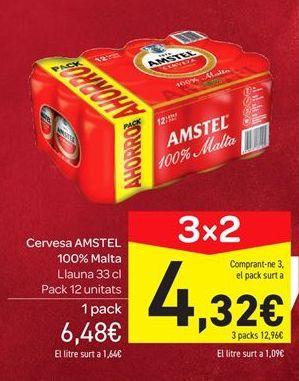 Oferta de Cerveza Amstel por 6.48€