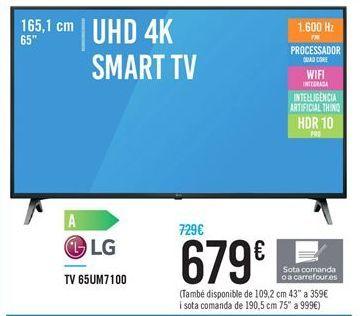 Oferta de Smart tv LG por 679€